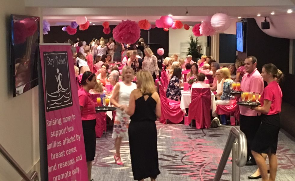 bay babes, raising funds for cancer research, girls morning in, breast cancer research